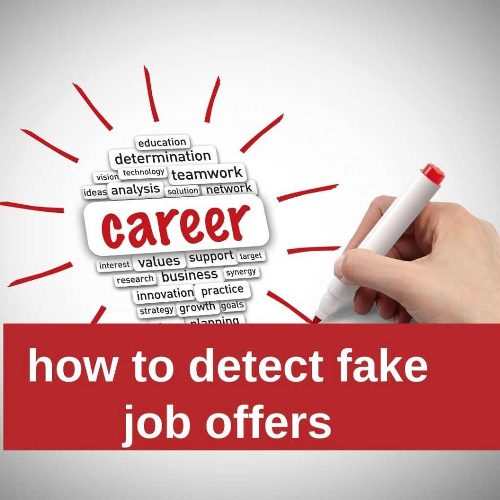 how to detect fake job offers